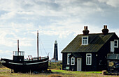 Europe, England, Kent, Dungeness, fishing boat