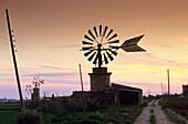 Europe, Spain, Majorca, near Sant Jordi, windmill