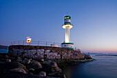 Lighthouse Falkenstein in Kiel Fjord, Kiel, Schleswig-Holstein, Germany