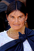 Indigenous woman in Otavalo, Ecuador, South America