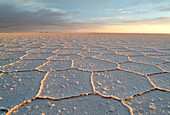 View across the salt lake,  Salar de Uyuni, Bolivia, South America