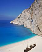 Shipwreck cove. Zakynthos. Greece