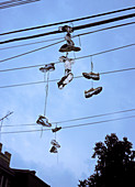 Shoes on electric wires, USA