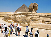 Tourists looking at Sphinx, Egypt