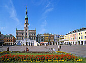 Town Hall and Arcaded Houses on Main Market Square Zamosc, Poland UNESCO