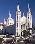 Church of Our Lady of Health, Roman Catholic pilgrim centre. Velankanni. India