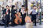 Street musicians. Prague. Czech republic.