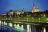 Moskva River. Cathedrals. Kremlin. Moscow. Russia.