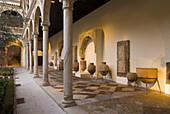 Cloister at Museo de Santa Cruz. Toledo. Ruta de Don Quijote. Castilla-La Mancha, Spain