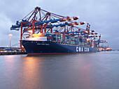 Container Terminal im Hamburger Hafen, Eurogate, Hamburg, Deutschland
