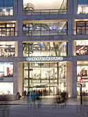 Entrance of the Europa Passage Shopping Mall, Hanseatic City of Hamburg, Germany