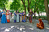 Actors in the Old Town, Tallinn, Estonia, Europe