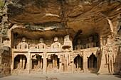 Jain sculptures. Gwalior, Madhya Pradesh. India.