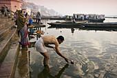 Uttar Pradesh, Benares City, Ganges river, India.
