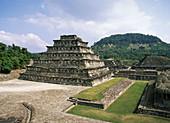 Veracruz State. Ruins of El Tajin. The Nichos Piramid. Mexico.
