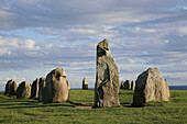 The Ale stones at Kåseberga, the largest stone formation in Sweden maybe used as a calendar