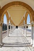 Arcade at Habib Bourguiba mausoleum in Monastir Tunisia Photo: André Maslennikov