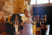 Fattoria (farm) di Cusona. Guicciardini-Strozzi wine producer, the Principe (prince) Strozzi in the winecellar. San Gimignano. Siena province. Tuscany. Italy.