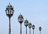 street lights in perspective, cadiz, andalucia, spain