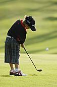 Dark Hair, Dark-haired, Daytime, Exterior, Fit, Full-body, Full-length, Golf, Golf club, Golf clubs