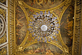 Vault in the Hall of Mirrors, Palace of Versailles. France