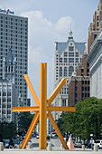 The Calling, sculpture by Mark di Suvero, Wisconsin Drive, Milwaukee, Wisconsin, USA