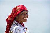KUNA NATIVE INDIAN WOMAN PANAMA CITY REPUBLIC OF PANAMA