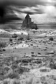 Butte rock formation near Monument Valley. Arizona, USA