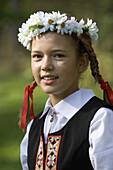Latvian folklore, traditional costumes. Latvia