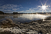Scenery in and around Yellowstone National Park in the late fall  USA