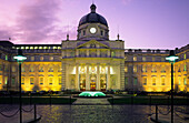 Goverment Buildings , the illuminated parliament in the evening, Merrion Street Upper, Dublin, Ireland, Europe