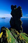 Rock formation on Skellig Islands under blue sky, County Kerry, Ireland, Europe