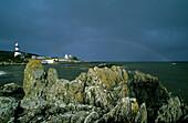 Lighthouse at Dunagree Point, Inishowen peninsula, County Donegal, Ireland, Europe