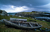 Shipwreck at Garnish Point, Beara peninsula, County Kerry, Ireland, Europe