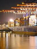 Container Terminal im Hamburger Hafen, Hamburg, Deutschland