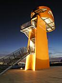 HafenCity view point at night, Hamburg, Germany