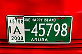 West Indies, Aruba, number plate, One happy Island