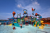 West Indies, Aruba, De Palm Island, water park, private Island famous for Sea Trek, Scuba diving and snorkeling and water sport fun