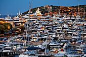 Italy Sardinia Costa Smeralda Porto Cervo Yachting Port, Marina