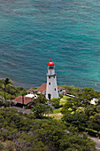 Lighthouse at Kupikipikio Point, Oahu, Pacific Ocean, Hawaii, USA