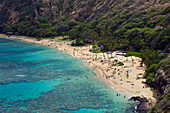 Beach of Hanauma Bay, Oahu, Pacific Ocean, Hawaii, USA