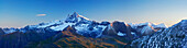 Panoramic view of Kleinglockner and Grossglockner, National Park Hohe Tauern, Tyrol, Austria