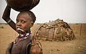 Dasanech girl. South Ethiopia. African tribes