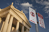 Holy Rosary Catholic Church and street signs, Bundaberg, East Coast, Queensland, Australia