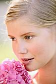Closeup, Color, Colour, Contemporary, Daytime, Delicate, Exterior, Face, Faces, Fair-haired, Female