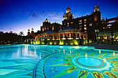 Grand pool of the Palace Hotel, Sun City resort. Western Cape Province, South Africa