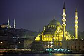 Yeni mosque at Golden Horn, Istanbul. Turkey