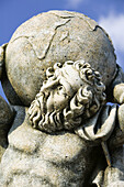 Greek Lawn Ornament Statue Showplace. Statue of Atlas. Kokolata. Kefalonia. Ionian Islands. Greece.