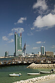 BAHRAIN-Manama: New Towers of Bahrain Financial Harbor and Dhow Harbor