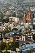 MEXICO-Guanajuato State-San Miguel De Allende: Parroquia De San Miguel Archangel Church Overlook / Sunset